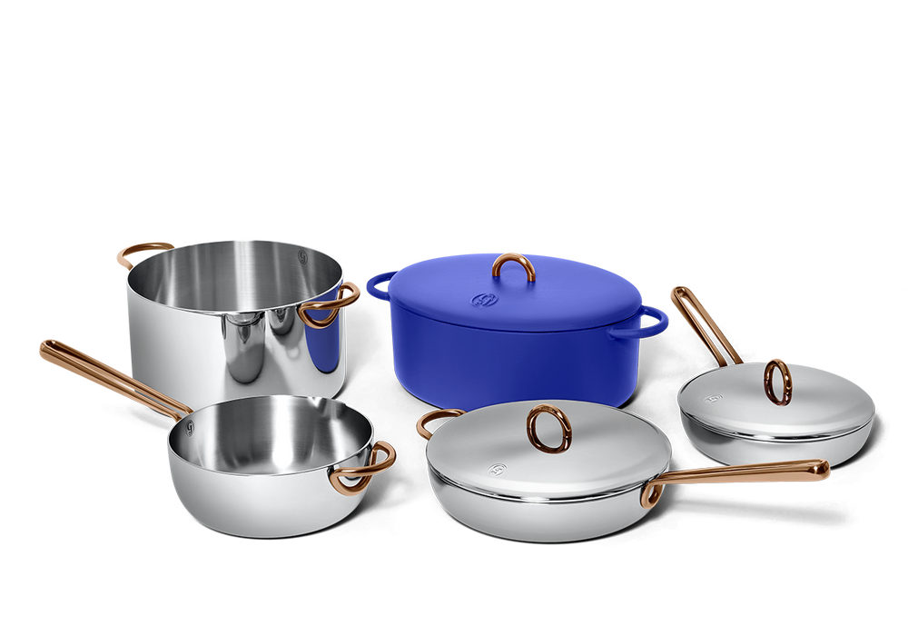 Family Style cookware set - Blueberry blue 2