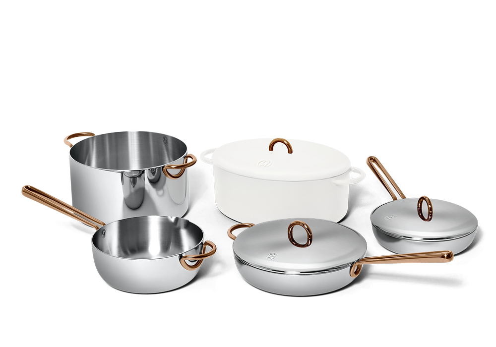 Family Style cookware set - Salt white 2