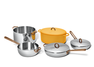 Family Style cookware set - Mustard yellow 2