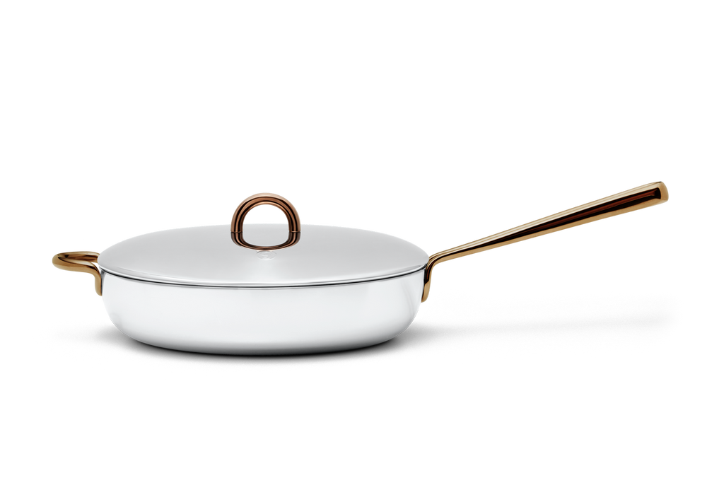 Deep Cut stainless steel saute pan - side view