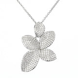 Floral Leaf Pendant Necklace