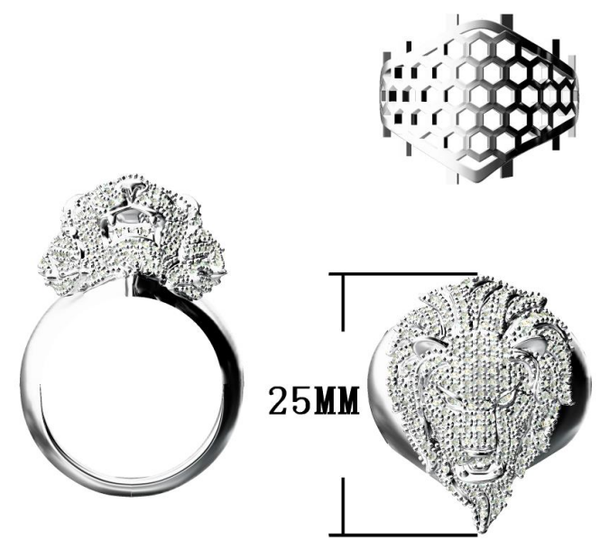 Custom Design Sterling Silver Micropave set with Hearts & Arrow Cubic Zirconia