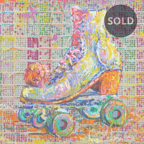 YOU CAN HAVE ONE ROLLER SKATE (2019) • 48 x 54