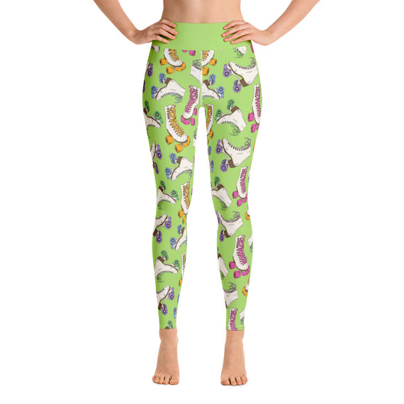 Let's Roll Leggings - Lime