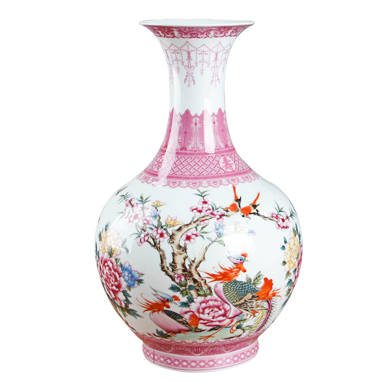 Antique Pink Ceramic Vase