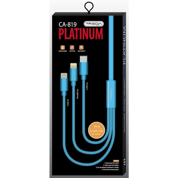 3in1 Platinum Charging Cord