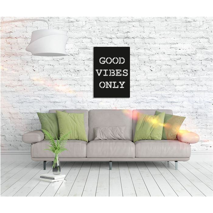 Good Vibes Only Metal Art