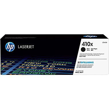 HP 410X (CF410X) High Yield Black Original LaserJet Toner Cartridge (6500 Yield)
