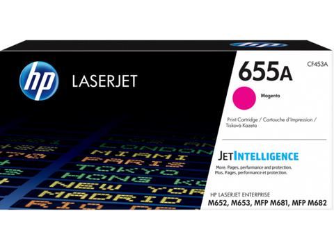 HP 655A (CF453A) Magenta Original LaserJet Toner Cartridge (10500 Yield)