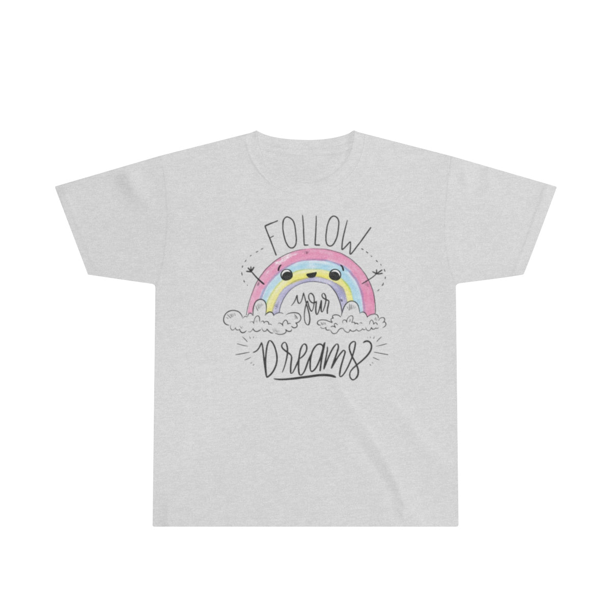 Rainbow Colorful Custom Matching Sister Youth T-Shirt - mysterynb