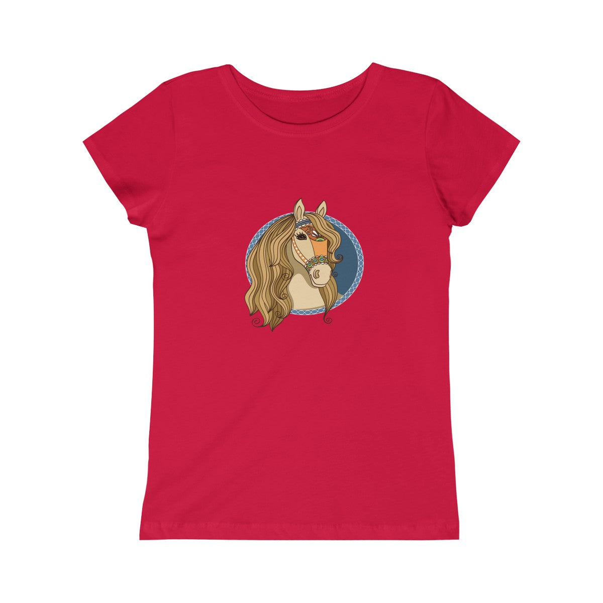 Horse Girls Youth  Princess Casual Custom Handmade T-Shirt - mysterynb