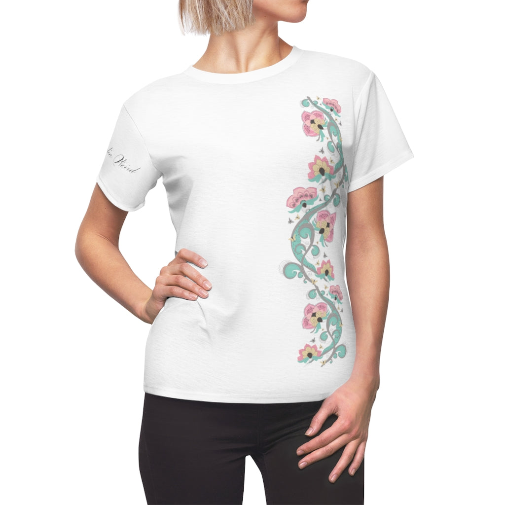 Women's Flower Tee Matching Family Clothing