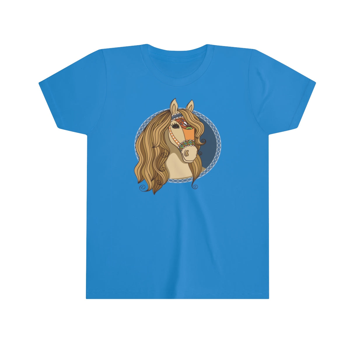 Horse Girls Youth Princess Custom Handmade T-shirt - mysterynb