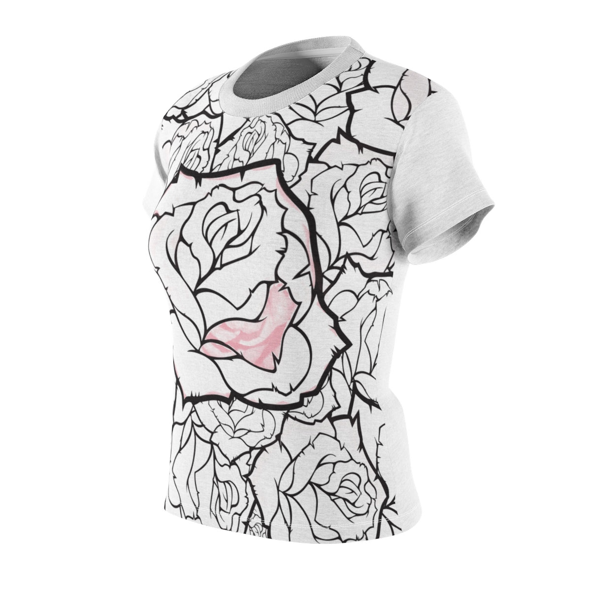 Women's Rose Abstract T - Shirt - mysterynb