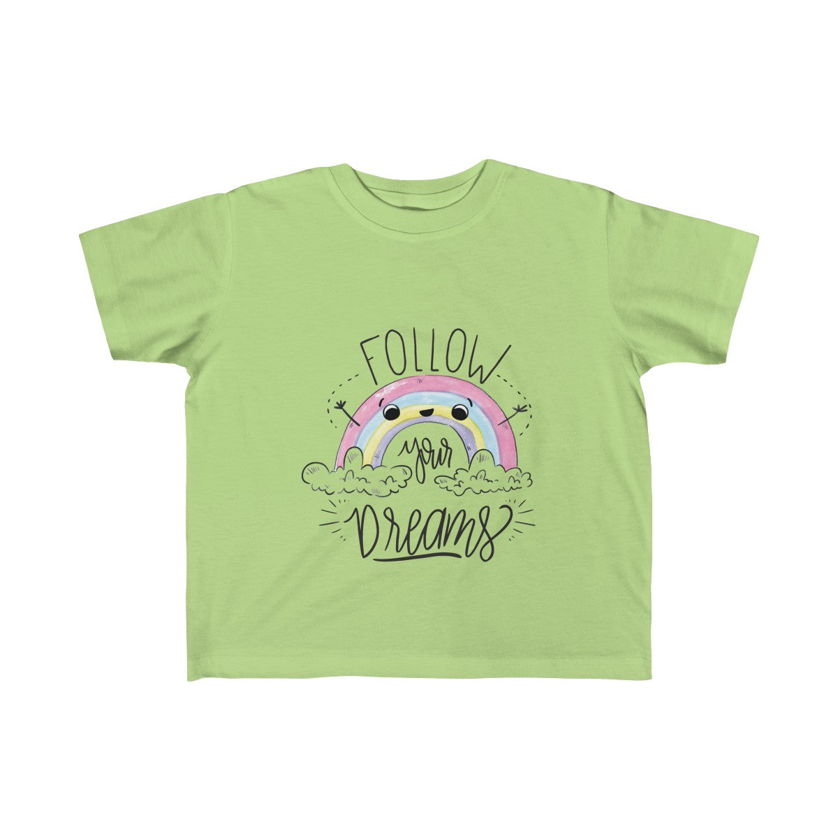 Rainbow Colorful Custom Matching Sister Kids T-Shirt - mysterynb