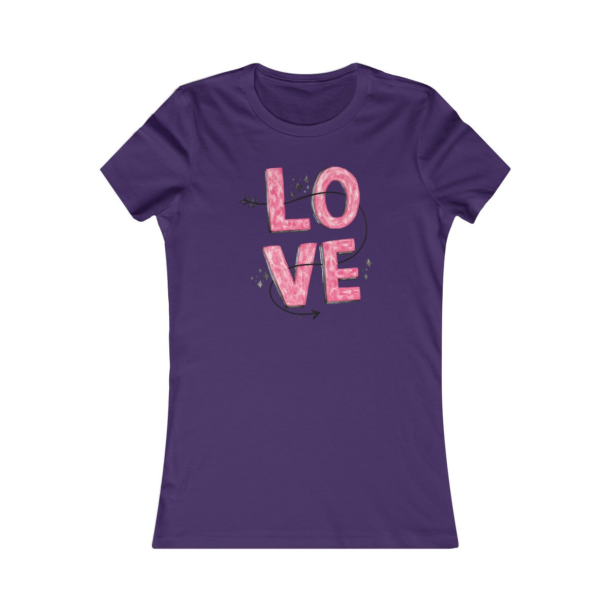 Women's Love Abstract Favorite T-Shirt - mysterynb