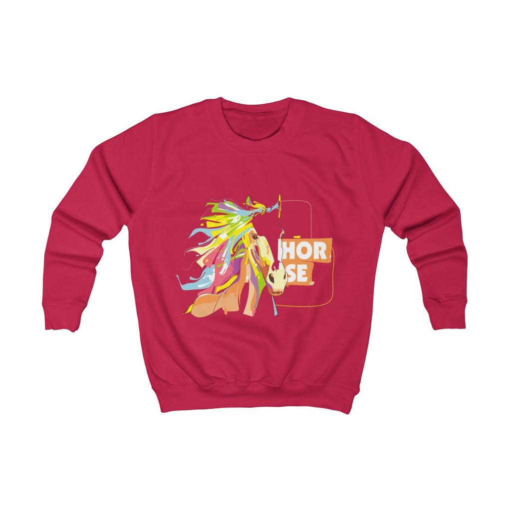 Sweet Horse Unicorn Girl Kids Sweatshirt - mysterynb