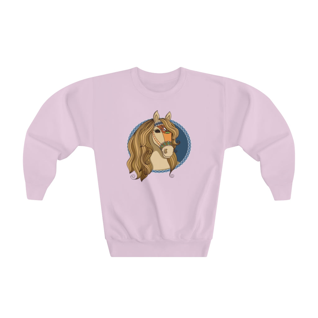 Sweet Russian Horse Cute Unicorn Youth Sweatshirt Back-to-School - mysterynb