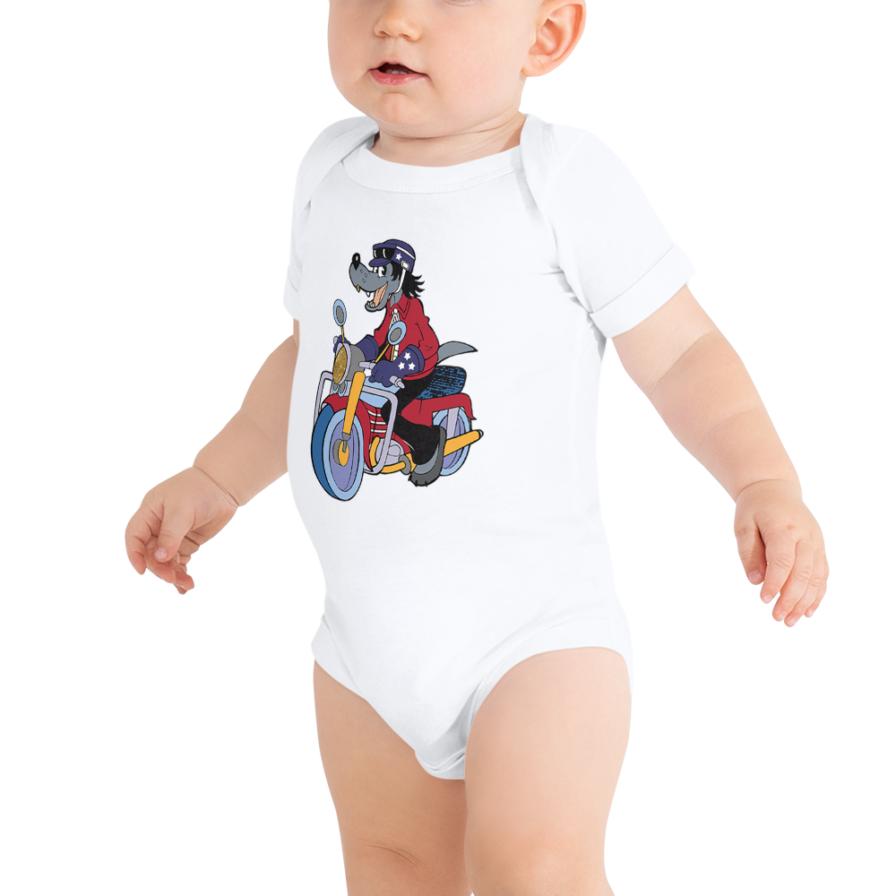 Infant Wolf Bodysuits 3-6 M | Custom Christmas Bodysuits | Motorcycle Shirts | Motorcycle Gift Shirt | Funny Christmas | Custom Gift Shirt