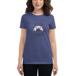 Rainbow Colorful Custom Handmade Gift Matching Family Women's T-shirt - mysterynb