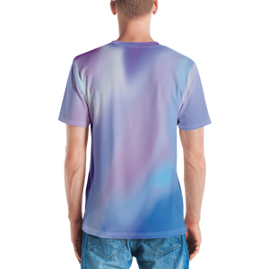 Abstract T-Shirt for Men | Custom T Shirt | Blue Birthday Shirts | Geometric Gift Shirt | Gift for Birthday | Gift for Him - mysterynb