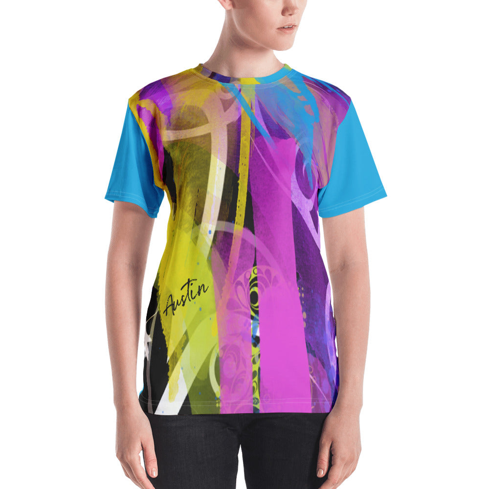 Austin Gift for Her Custom Abstract Women's T-shirt - mysterynb