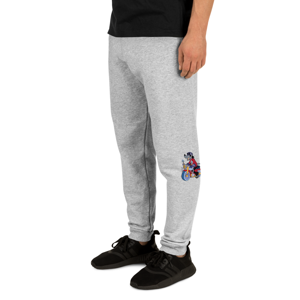 Unisex Joggers | Custom Joggers | Birthday Joggers | Motorcycle Gift Joggers | Funny Wolf Joggers  | Custom Joggers