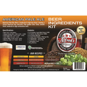 Alfred's American Pale Ale Recipe Kit - Extract