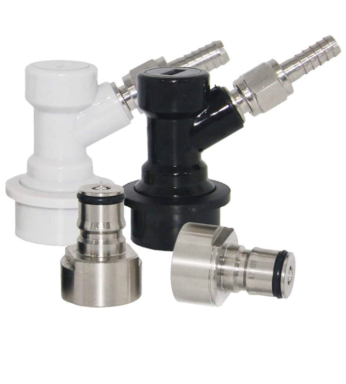 Keg Coupler Adapter Kit With Ball lock disconnects