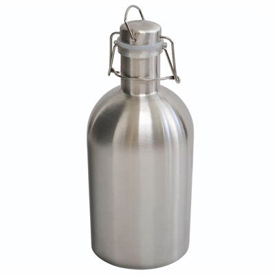 Growler 2 Litre (64oz) Swing Top - Stainless Steel