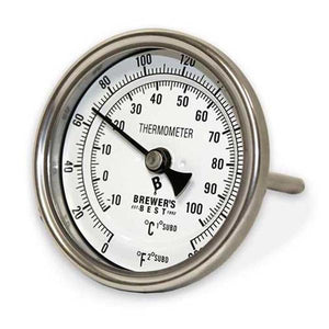 "Thermometer - Brewer's Best, Welded Dial (4"")"