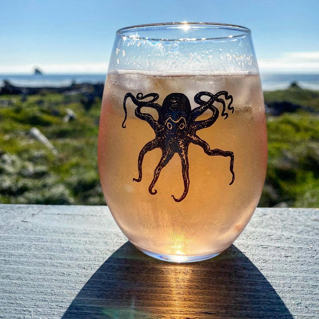 Octopus Stemless Glasses (Set of 2)