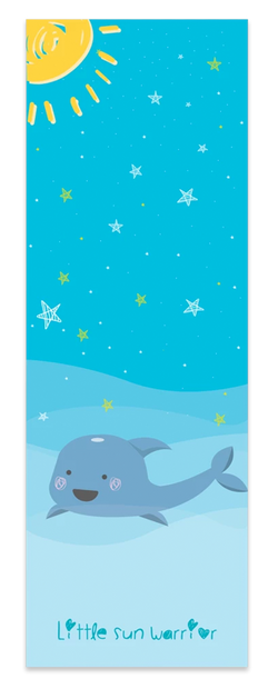 Ocean And Dolphin Kids Yoga Mat