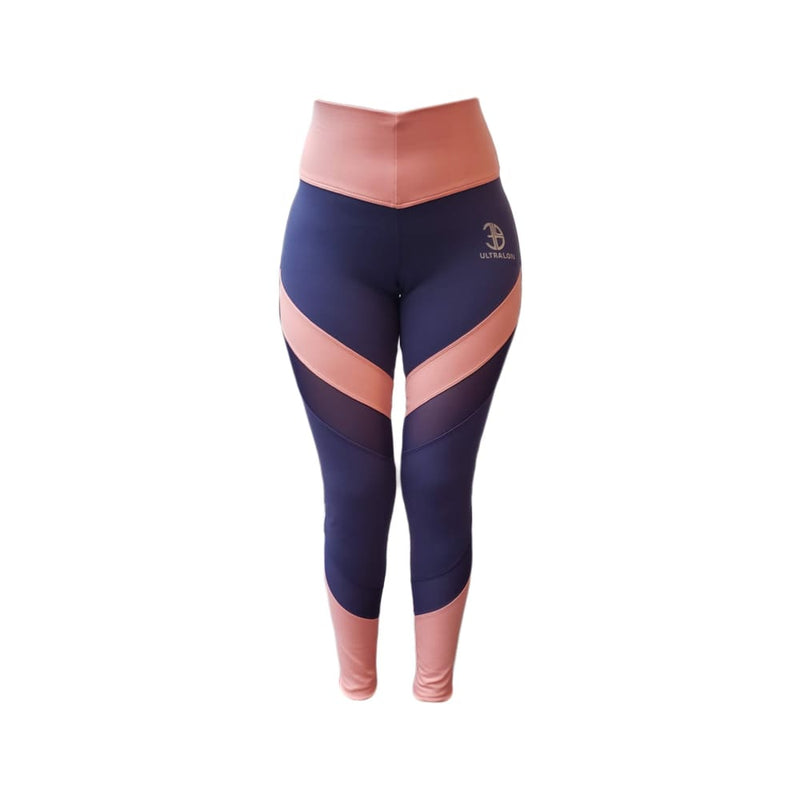 Leggins Power - standard / azulino/rosa