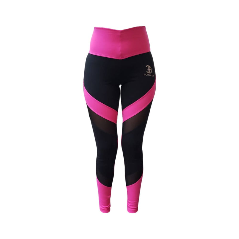 Leggins Power - standard / fucsia/negro