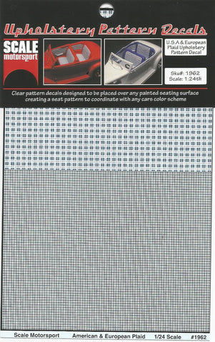SM1962 Plaid Upholstery Pattern Decal