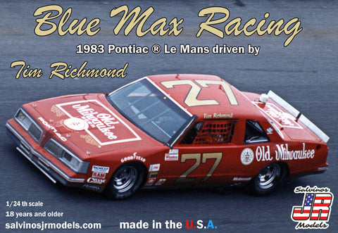 Salvino's JR Models Blue Max Racing 1983 Pontiac ® Le Mans driven by Tim Richmond
