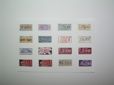 PTMC 09- State License Plate Set 1/25 Scale