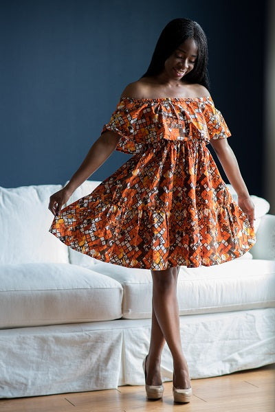 Lila two tier off shoulder dress