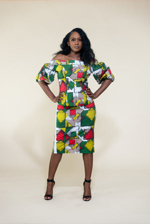 Bukky Skirt and Blouse Set