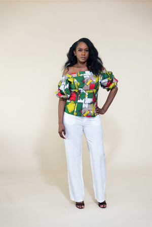 Bukky Off-Shoulder Full Sleeves Blouse