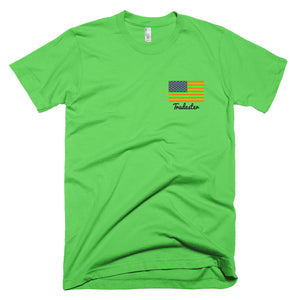 "Green ""MHWGA"" T-Shirt (front and back)"