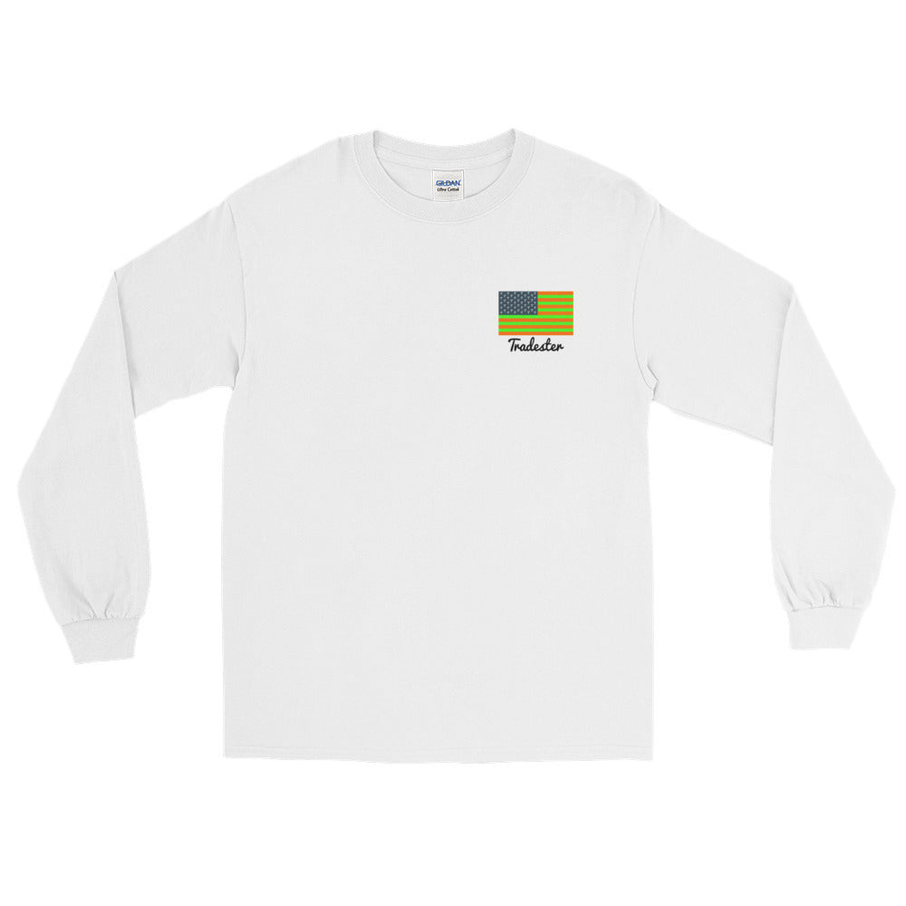 White - MHWGA (front and back) long Sleeve T-Shirt