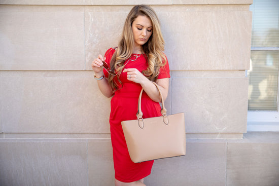 The Classic Tote - Sand - Vie Verte Shop