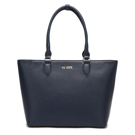 The Classic Tote - Navy Blue - Vie Verte Shop