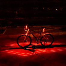 Load image into Gallery viewer, Spider Laser USB Rechargeable LED Bicycle Light