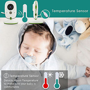 LCD Baby Monitor With Security Camera, Night Vision and Temperature Sensor