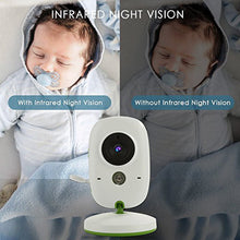 Load image into Gallery viewer, LCD Baby Monitor With Security Camera, Night Vision and Temperature Sensor