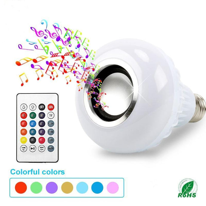 Happy Bluetooth Light Bulb Speaker