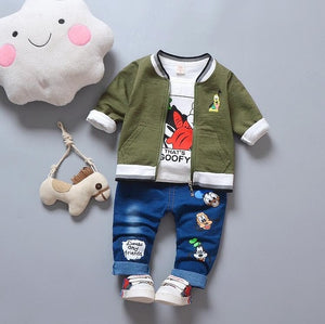 Goof - 3 Pieces Clothing Set (Coat, T-Shirt, Pants)